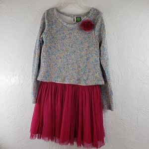 Dollies & Me Tutu Dress w/attached Knit Top, 10